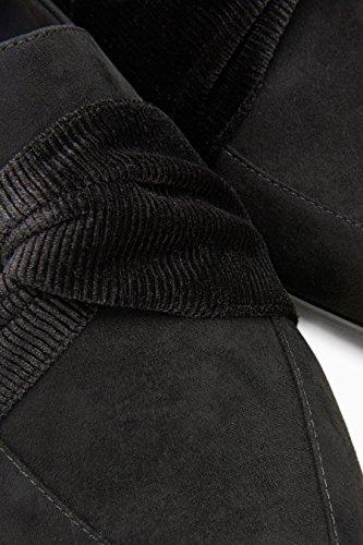 Schwarz Loafer mit Damen next Detail Verdrehtem pRc7TSvqw