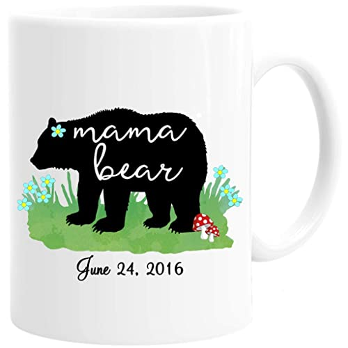 ed87bf81ce Image Unavailable. Image not available for. Color: Personalized Mama Bear  Mug ...