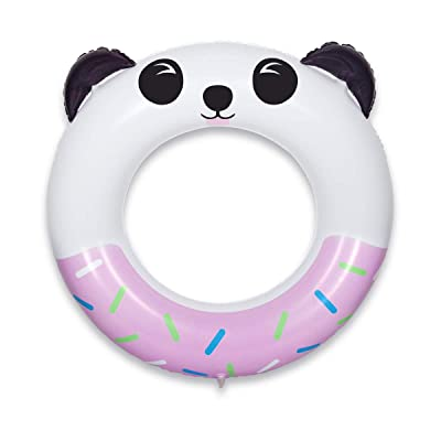 QUN FENG Pool Float Swim Ring Inflatable Pool Swim Rounge for Kids and Adults 8+ Years up Pool Floaties Outdoor Summer Water Game, Panda Pink: Toys & Games