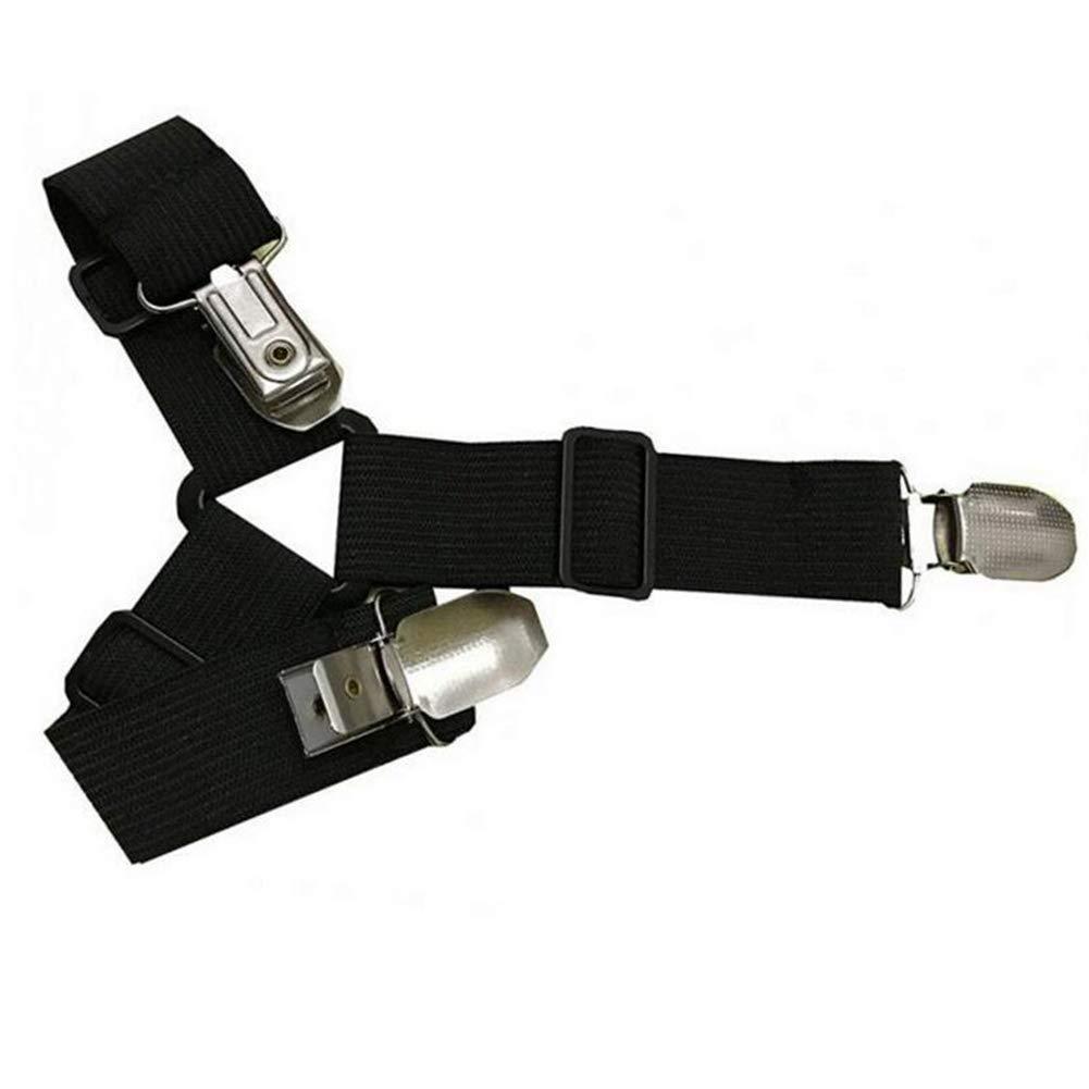 Accreate Bed Sheet Suspenders; Bed Straps Adjustable Holder Grippers Fastener 4pcs//Set White