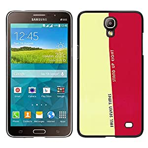 CASEMAX Slim Hard Case Cover Armor Shell FOR Samsung Galaxy Mega 2- FALL SEVEN TIMES - LIFE MESSAGE