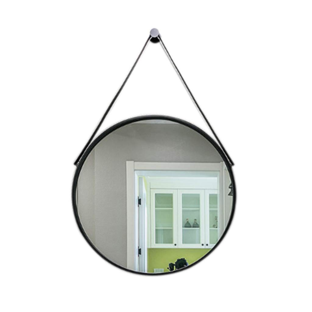 Black Indoor Decorations Bathroom Mirror-Wall-Mounted Vanity Mirror-Modern Minimalist Round Mirror-Vanity Mirror Decorative Wall Mirror for Bedroom Bathroom Hotel 60 x 60cm  (color   White)