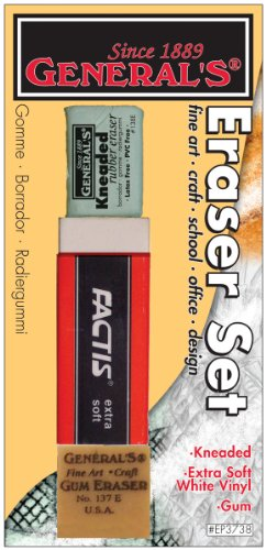 General Pencil Company Eraser Set 3-Pack (Architecture Eraser)
