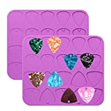 2 Pack Guitar Picks Epoxy Resin Molds Guitar Plectrums Silicone Casting Mold Jewelry Making Molds for DIY Guitar Thumb Finger Picks Keychain Pendant