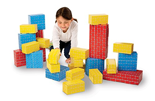 Giant Blocks (Melissa & Doug Extra-Thick Cardboard Building Blocks - 24 Blocks in 3 Sizes)