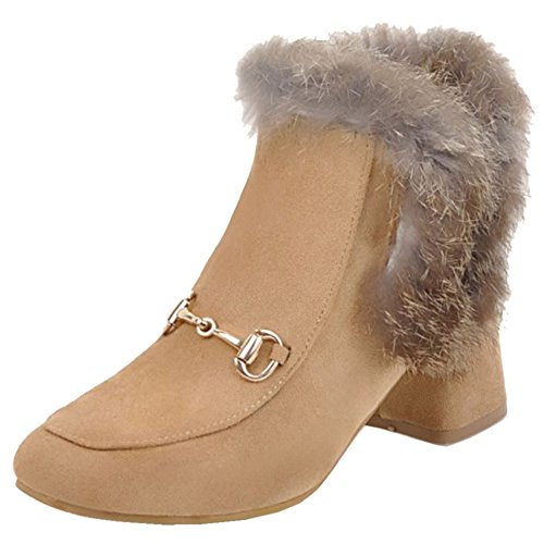 COOLCEPT Damen Winter Kurz Stiefel Apricot