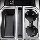 2017 2018 Ford F-150 Custom Fit Cup Holder and Door Liner Accessories F150 20-pc Set (Front Seat Only) (Dark Blue Trim)