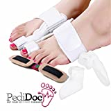 Bunion Corrector and Bunion Splint Bunion Relief Kit by PediDocTM - Bunion Pad Protector with Hinged Bunion Splints, Toe Stretchers and Toe Separators - Comprehensive 5 Piece Bunion Pain Relief Kit