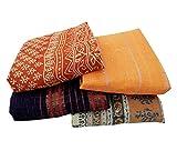 Lot Oaf 4Vintage Indian Saree Pure Cotton Fabric Curtain Decor Multicolor Sari