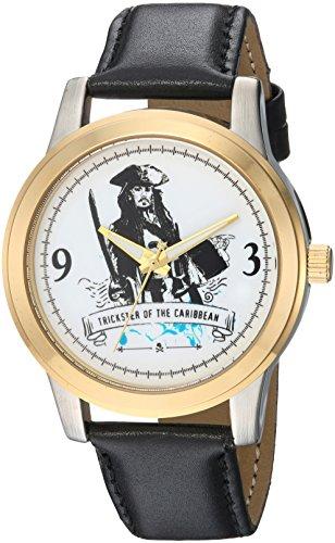Disney Men's 'Pirates' Quartz Metal Casual Watch, Color:B...