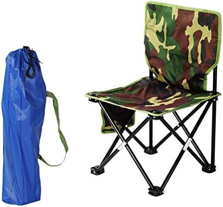 屋外背もたれ折りたたみチェアカモポータブルキャンプビーチ釣りチェアホームバケーションピクニックバーベキュー折り畳み式スツール (Size : L36*W36*H69cm)