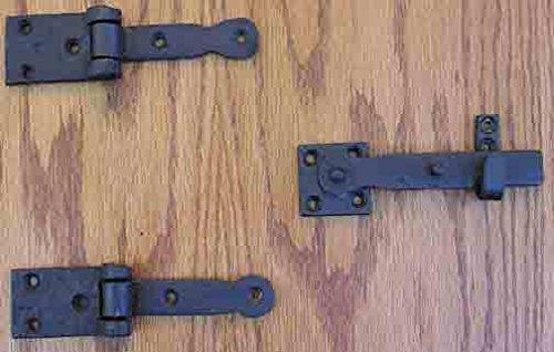 - Speakeasy Hinge / Latch Set Iron Décor Flat Black
