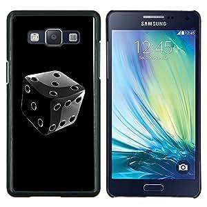 For Samsung Galaxy A5 A5000 Case , Negro y blanco cromo dados- Diseño Patrón Teléfono Caso Cubierta Case Bumper Duro Protección Case Cover Funda