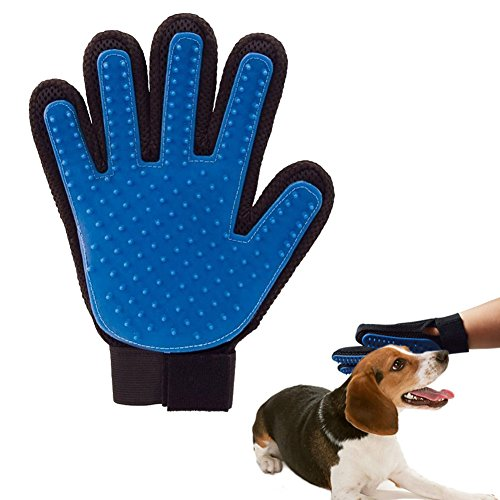 Pet Grooming Gloves Mitts,Gentle Deshedding Brush Glove,Efficient Hair Fur Removal Tool,Bathing Massage Brush for Dogs,Cats,Small Animals