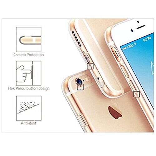 MUTOUREN Apple funda de movil iPhone 6 Plus/6S Plus TPU silicona Case Caso Cover shell Soft cáscara protectora iPhone 6 Plus/6S Plus la contraportada Teléfono resistencia a la caída shell moda Ultra D theme 09
