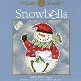 Snowbells Beaded Counted Cross Stitch Snowmen Ornaments Kits Mill Hill Debbie Mumm 2014 (Set of 5: Flurry, Frank, Freezy, Jangle, Jingle)