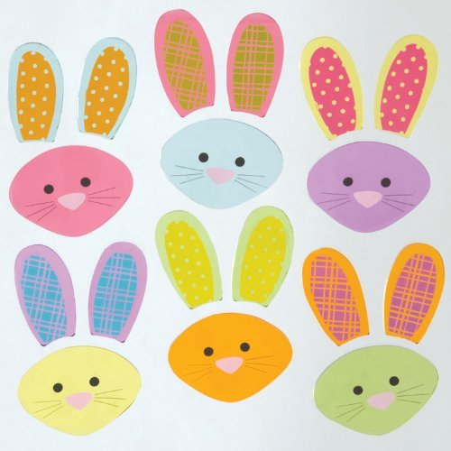 Design Ideas GelGems Easter Themed Gel Window Clings (Bunny Mixup, Small Bag)