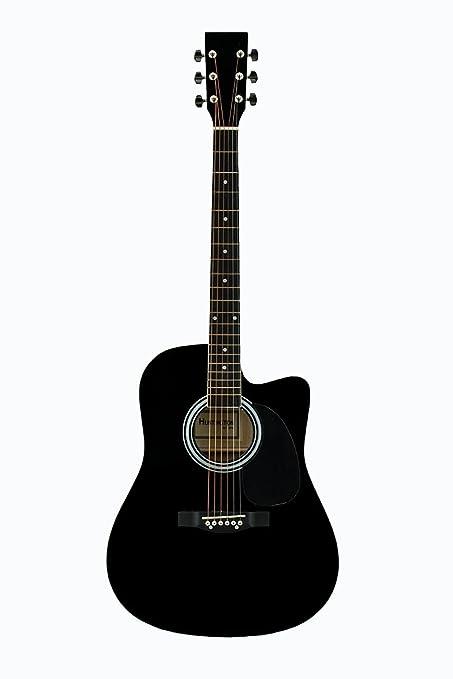 Amazon Com Directly Cheap 41cga Bk Acoustic Guitar Black Musical