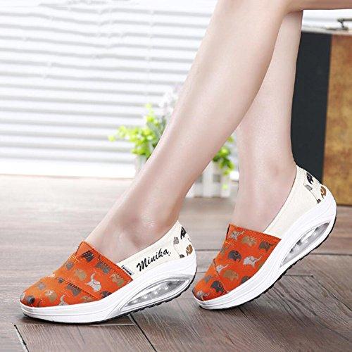 Shoes Platform Loafers Athletic E ai Xue Mocassini Sneakers Guida Fitness Un Da Slip Shake Donna Flat Autunno Scarpe Shaking Primavera wwUqZ7T