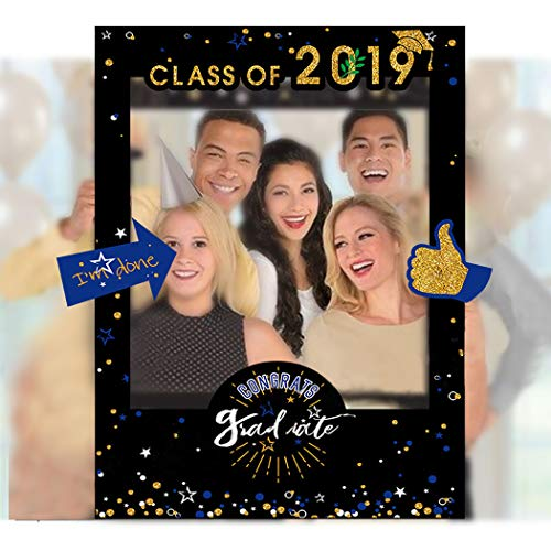 (Coxeer Graduation Selfie Frame Creative Paper Picture Frame Cutout Photo Booth)