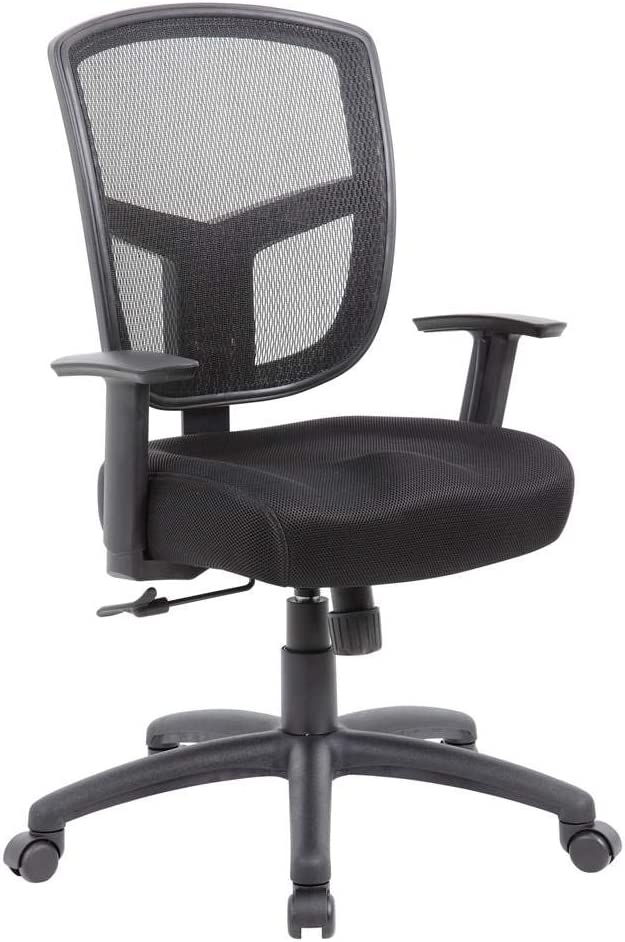 Boss Office Products (BOSXK) Contract Task Chair with Synchro-Tilt Mechanism, Black
