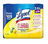 Lysol Disinfecting Wipes, Lemon & Lime Blossom, 105ct (3X35ct)