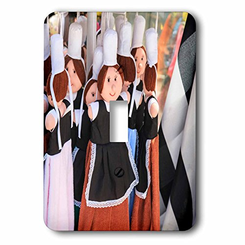 Costume De Bigoudene (Danita Delimont - France - Dolls are dressed in the traditional costume of the women of Brittany - Light Switch Covers - single toggle switch (lsp_227311_1))