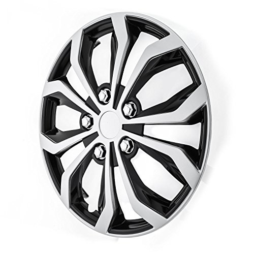 Review Pilot WH553-16S-BS Universal Fit Spyder Black/Silver Finish 16 Inch Wheel Covers – Set of 4