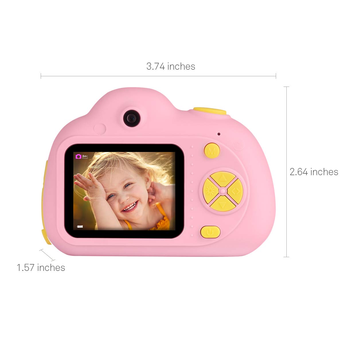 Tyhbelle Kids Camera Video Recorder Anti-Dropping Dual Camera Kids Toy with 16G TF/Micro SD Card (Pink) by Tyhbelle (Image #2)
