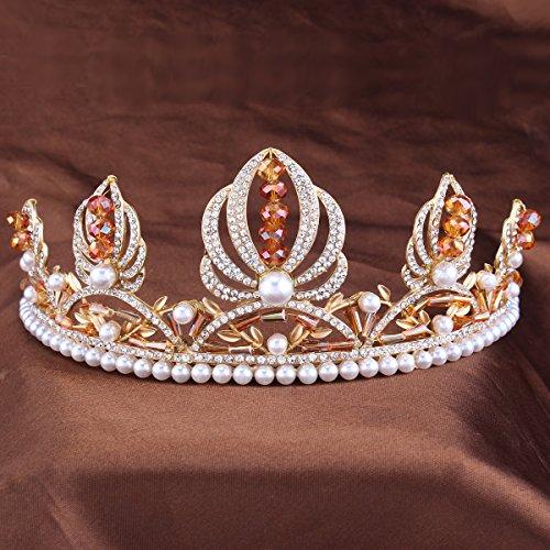 FUMUD King crown Bridal Tiaras Crowns Crystal Rhinestone Queen diadema Bridal Wedding Accessories Headpiece Headband Wedding Tiara