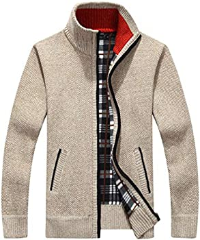 Msmsse Men's Casual Knitted Cardigan Sweater