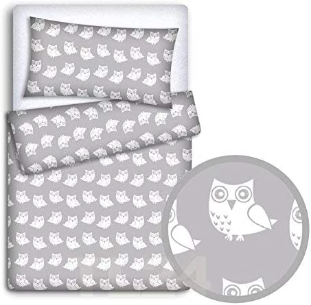 Fox grey BABY BEDDING SET PILLOWCASE DUVET COVER 2PC TO FIT COT