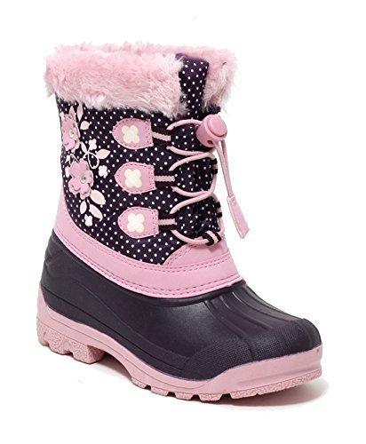 cheaper 54458 69ddf Mädchen Schneestiefel Snowboot Winterstiefel Duckboot Fell Snow Boots  Galoschenstiefel lila rosa