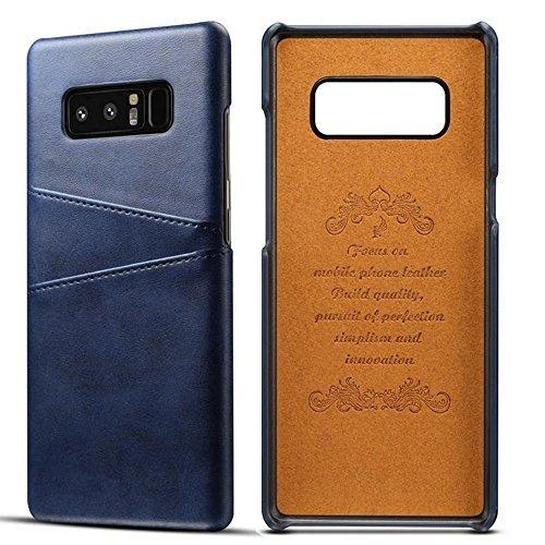 Galaxy Note 8 Cow Leather Case,Superstart Luxury Classical Soft Comfortable Slim Credit Card Slot Back Full Body Leather Wallet Case for Samsung Galaxy Note 8--Blue - Cow Note