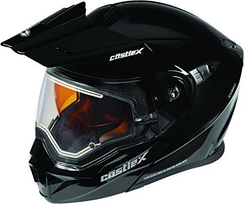 Castle X EXO-CX950 Electric Modular Snowmobile Helmet Solid Black 3XL