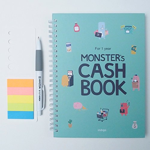 monsters-cash-book-1year-with-pencil-account-book-83-x-63-mint