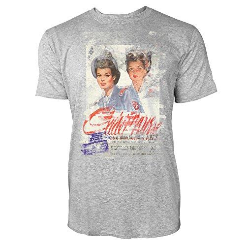 SINUS ART® Twins Herren T-Shirts stilvolles hellgraues Cooles Fun Shirt mit tollen Aufdruck