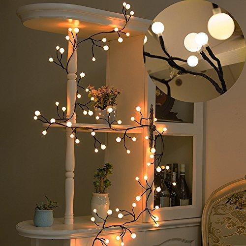 Decorative LightsTofu 8 Ft IndoorOutdoor Fairy LED Globe String Lights For BistroLED 72 Bulbs Patio BackyardCafeGarden Christmas