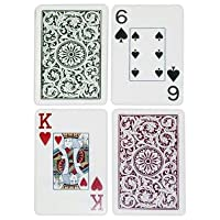 Copag Bridge Size Jumbo Index 1546 Playing Cards (Green Burgundy Setup)