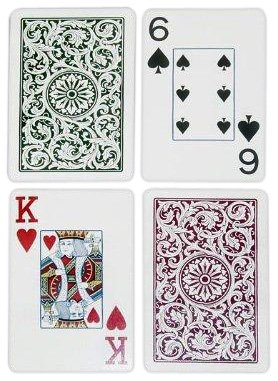 Copag Bridge Size Jumbo Index 1546 Playing Cards (Green Burgundy - Bridge Standard Size Table