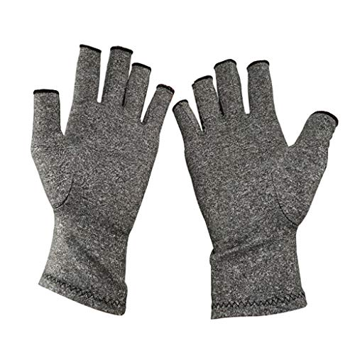 Fityle Arthritis Gloves Compression Hand Glove for Arthritic Joint Pain Ease- Carpal Tunnel Wrist Support, Fingerless Thumb for Computer ()