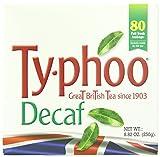 Typhoo  British Tea, Decaf, Foil fresh teabags, 80 Count