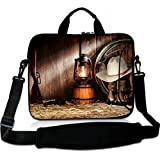 Wondertify 13-13.3 Inch Waterproof Neoprene Laptop Shoulder Bag Briefcase - American West Rodeo Cowboy Protective Bag Carrying Case for 13'' Macbook/Surface Book/Ultrabook/12.9 iPad Pro/Men