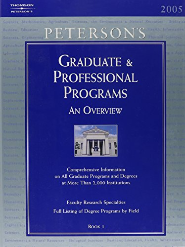 Graduate Guide Set (6vols) 2005 (Peterson's Graduate & Professional Programs)