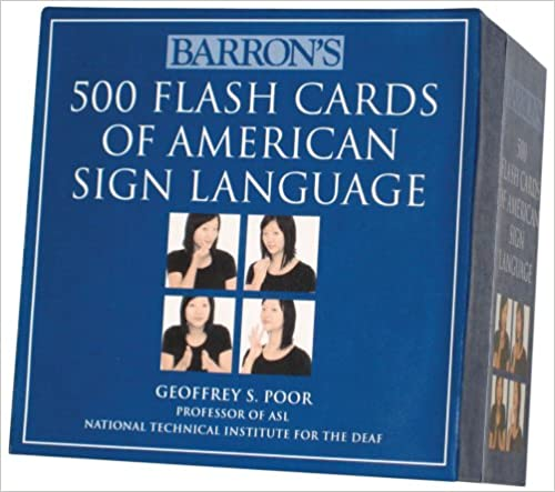 Amazon sign language books barrons 500 flash cards of american sign language fandeluxe Choice Image