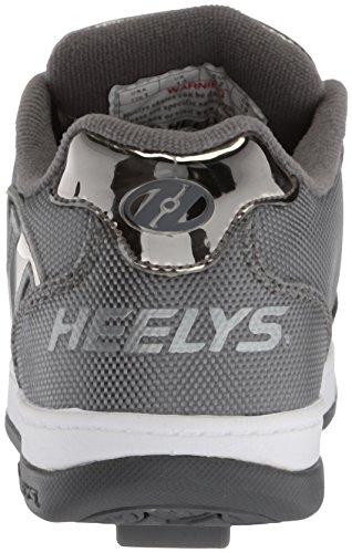 Heelys Spingere 2.0 Mens Scarpa Da Tennis Carbone Balistico / Peltro Cromo