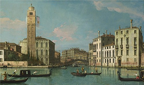 The Polyster Canvas Of Oil Painting 'Studio Of Canaletto Venice Entrance To The Cannaregio ' ,size: 24 X 41 Inch / 61 X 103 Cm ,this Best Price Art Decorative Canvas Prints Is Fit For Home Theater Decoration And Home Artwork And Gifts