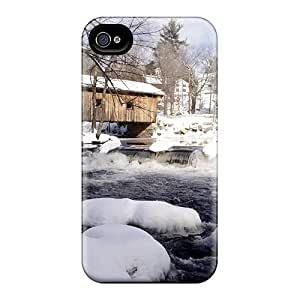New Style Mialisabblake Hard Case Cover For Iphone 4/4s- Waterloo Bridge New Hampshire by lolosakes