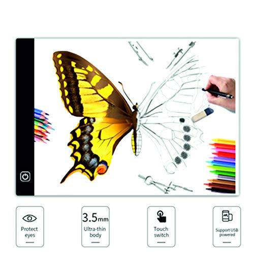 Caja de luz Light Pad accesorio para dibujar LED USB intensidad regulable protección de ojos mesa para calcar A4 3 Niveles...