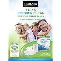 Genuine Kirkland Moist Flushable 632 Wipes Includes 2 Travel Packs